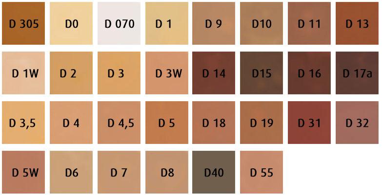 Dermacolor Camouflagecreme 25ml kleurenkaart
